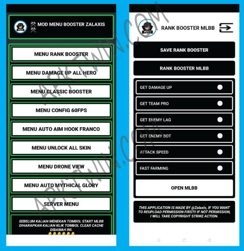 Screenshots of Zalaxis Rank Booster Apk